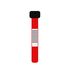 Blood test tube icon vector