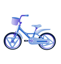 blue children bike wheeled eco transport for kids vector image