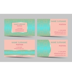 Business-card set vector image