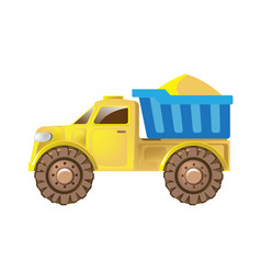 Children s truck car for delivery cargo vector