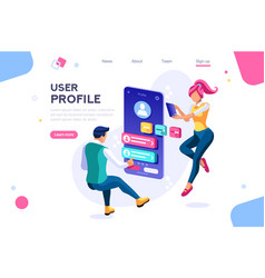 Client profile customer concept vector