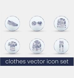 clothes icon set white milk vector image