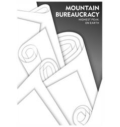 Concept design about bureaucracy vector