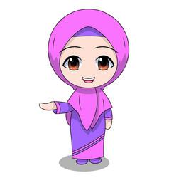 Cute muslim children - sales fun daily vector