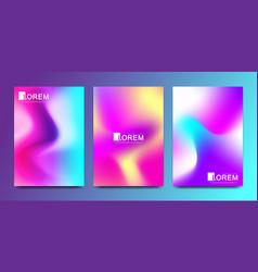 Design template in trendy vibrant gradient vector