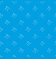 Eastern castle pattern seamless blue vector
