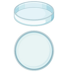 Empty glass tray used in science lab vector