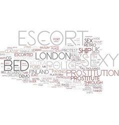 Escort word cloud concept vector
