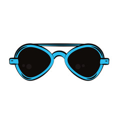 fashion cool and sunglasses vector image