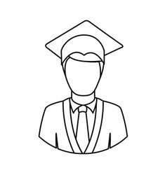 figure man graduation icon vector image