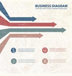 flat business diagram vector image