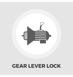 Gear lever lock flat icon vector image