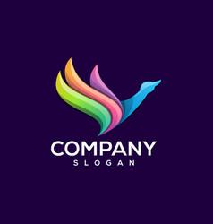 goat logo design vector image
