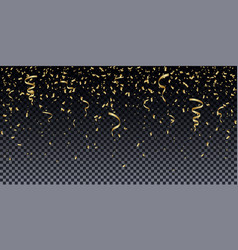 golden glitter particles background effect vector image