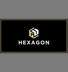 gu hexagon logo design inspiration vector image