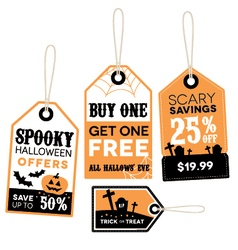 Halloween themed retail labels vector image