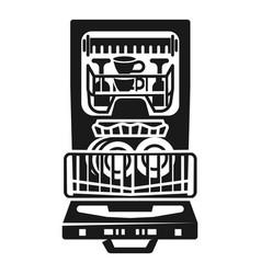 home dishwasher icon simple style vector image