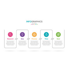 infographic label template with icons 5 vector image