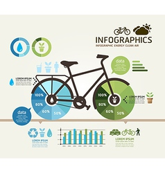 infographics Design bicycle template vector image