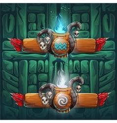 Jungle shamans GUI boosters air and water vector