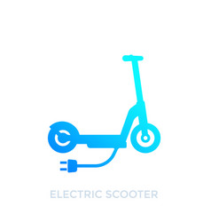 Kick scooter electric transport icon vector