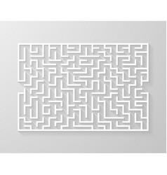 labyrinth maze symbol shape vector image