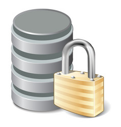lock database vector image