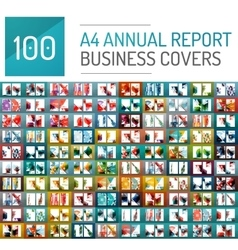 Mega collection of 100 business annual report vector