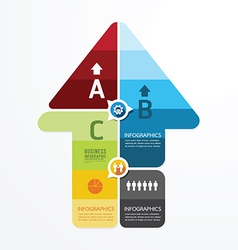 Modern arrow design infographic templatecan vector