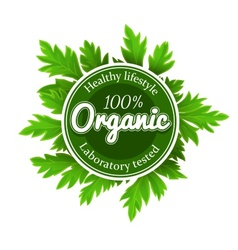Organic round logo sign label vector