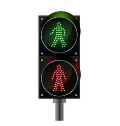 pedestrian crossing pedestrian light vector image