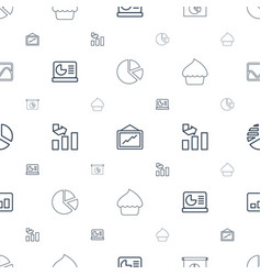 pie icons pattern seamless white background vector image