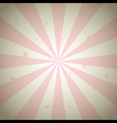 Pink Vintage Grunge Ray Background vector image