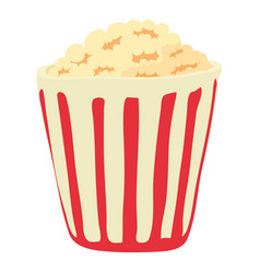 Popcorn icon cartoon style vector