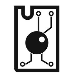 Processor chip icon simple vector