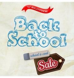 School sale label card eps 10 vector