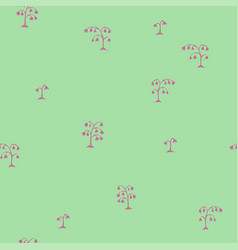 seamless sketch flowers pattern pink on vector image