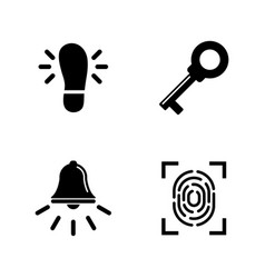 security measures simple related icons vector image