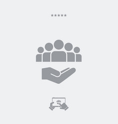 Service offer - community service - minimal icon vector