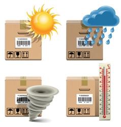 Shipment Icons Set 32 vector image
