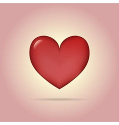 Simple classic heart sign with shadow vector image