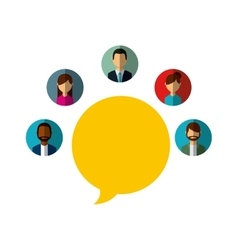 speech bubble and people vector image