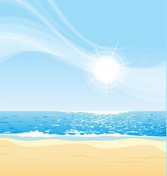 Sunny day at beach vector