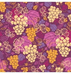 Sweet grape vines seamless pattern background vector image