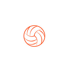 Volleyball thin line background vector