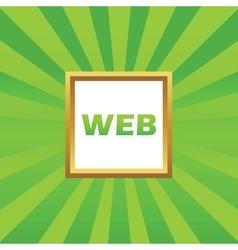 WEB picture icon vector