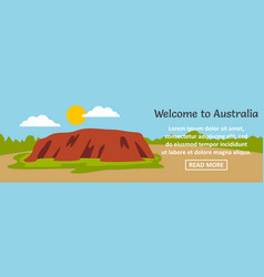 Welcome to australia banner horizontal concept vector