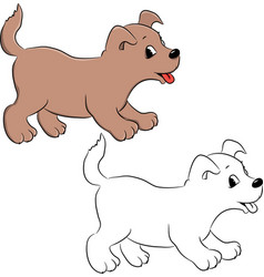 dog for coloring vector image