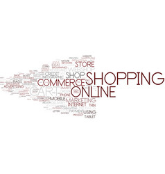 E-shopping word cloud concept vector