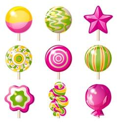 Lollipop icons vector image vector image